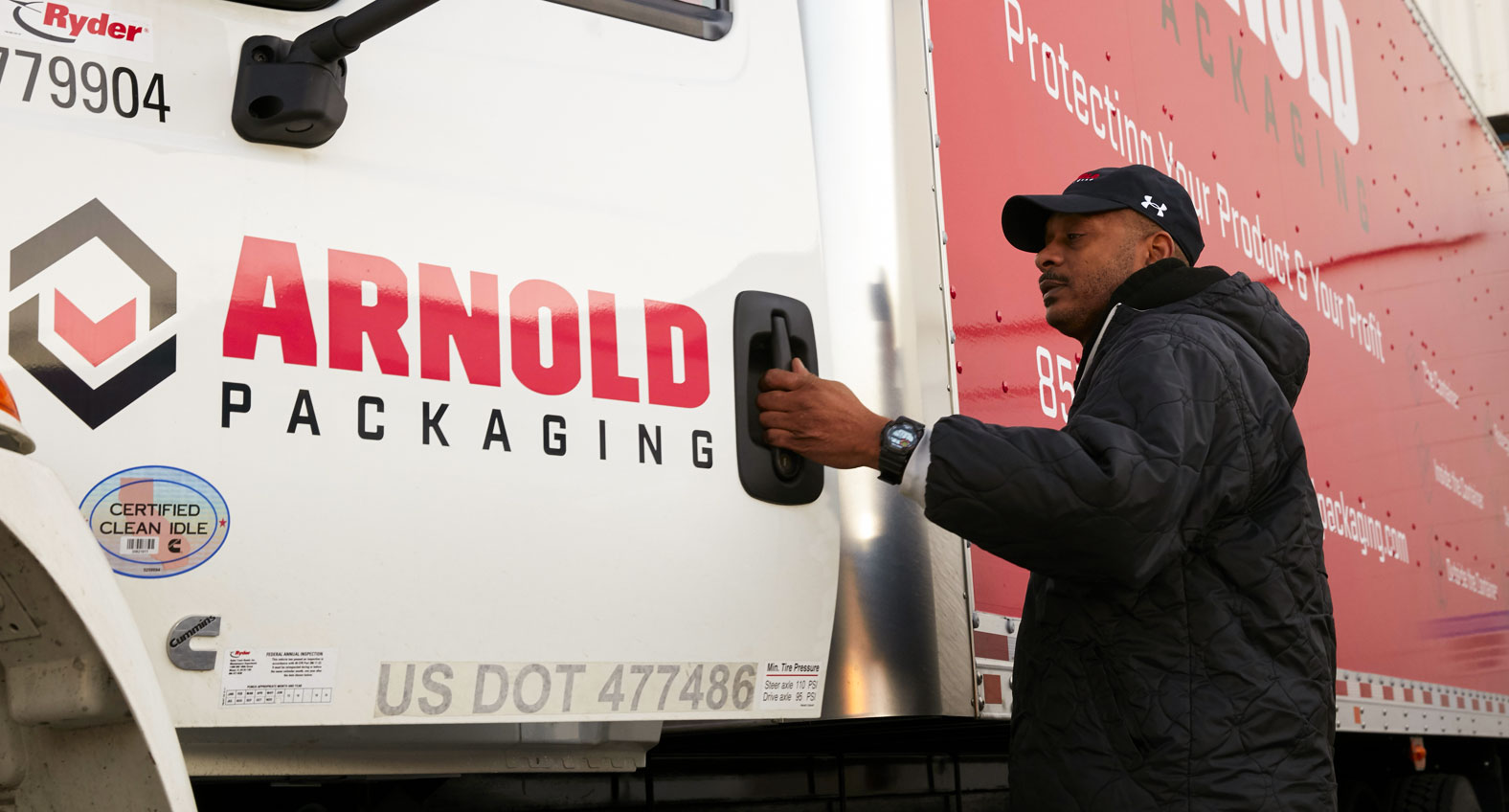 Delivery driver with truck