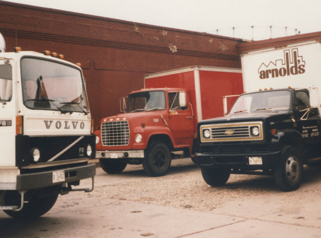 Vintage Trucks with Arnold's Logo