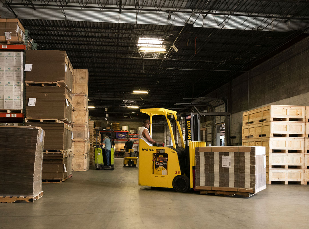 Arnold Packaging Warehouse with Forklift