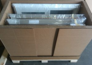 Vinyl Windows in Shipping Container