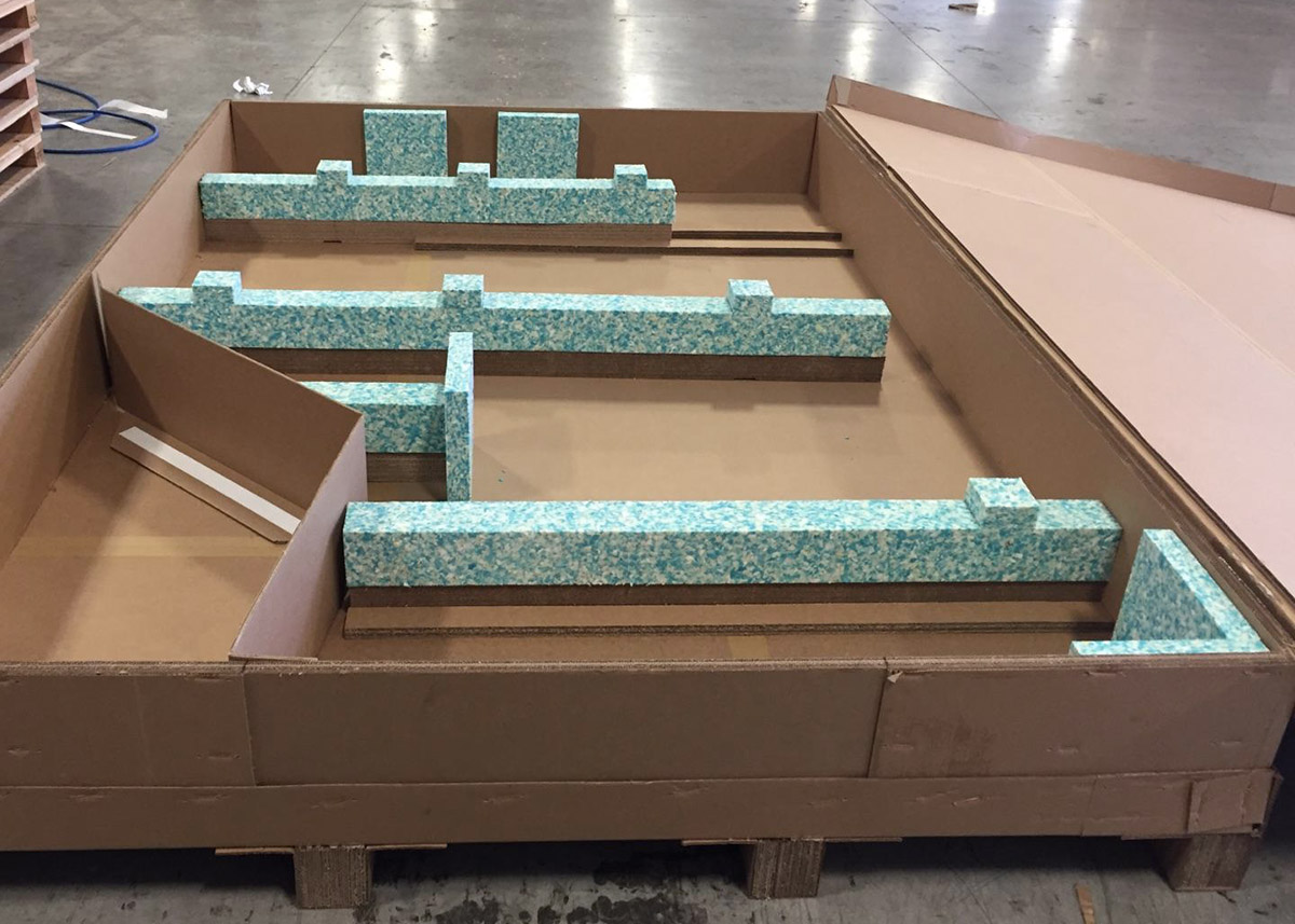 Shipping Container with Packaging Materials