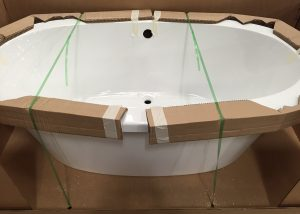 Bathtub in Shipping Container