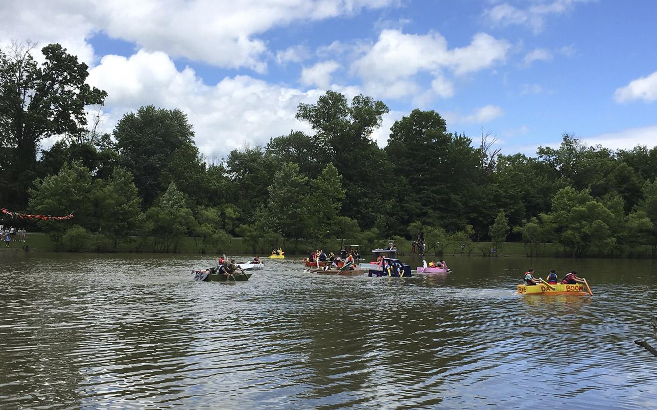 McDonogh School Annual Cardboard Boat Race