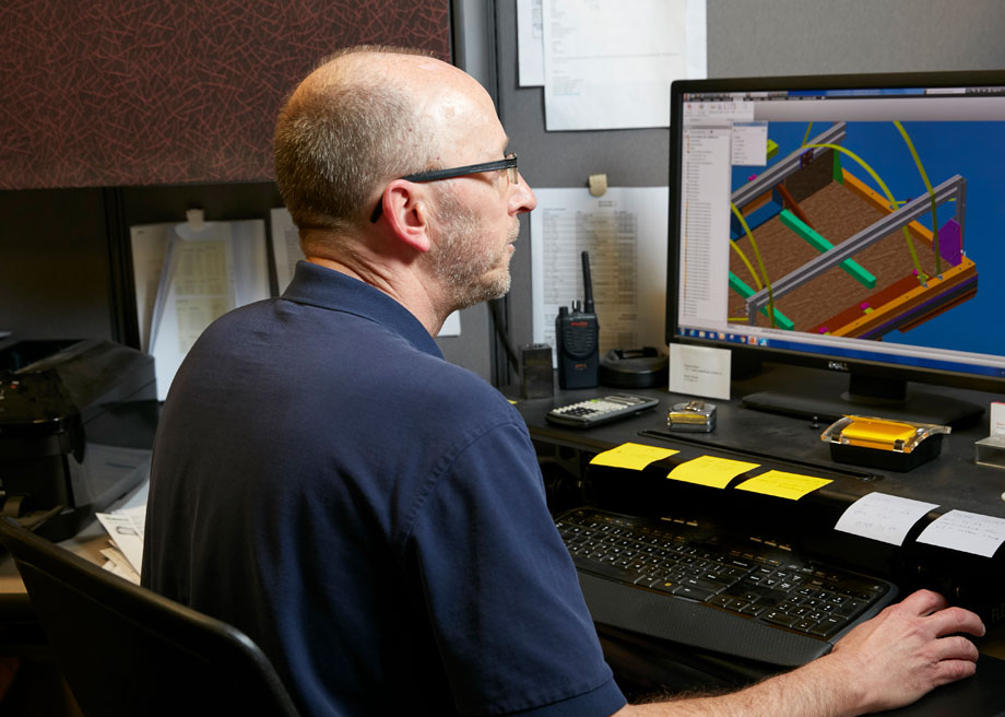 Worker Using CAD System