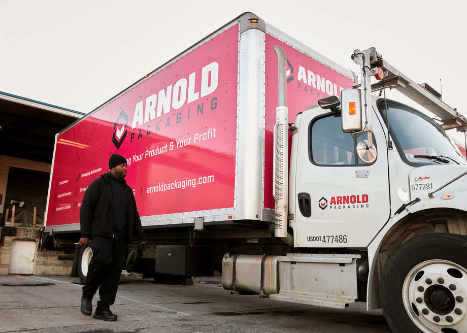 Arnold Packaging Truck with Driver